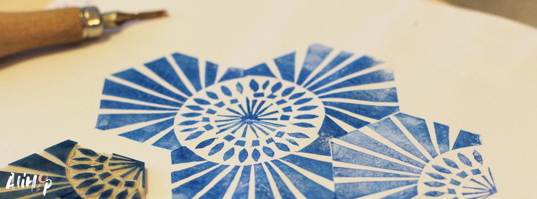 Pattern et Linogravure avec L'Atelier ambulant